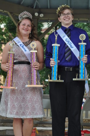 Danielle Newman and Jared Norman were named this year's Bacon King and Queen. Beth Scott | Beacon