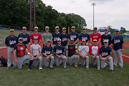This picture is from the Coshocton Post 65 Cherokee's final game of the state tournament at Beaver Stadium in Lancaster. Pictured in front from left are Josh Bigrigg, Jorn Hocter, Brenden Bridenthal, Braden Russell, Brice Hammond, Alex McPeak, Gavin Gray, Coach Mark Krebs and in back are Coach John McPeak, Coach Bob Bigrigg, Adam Croup, Zared Tumblin, Conner Roahrig, Braeden Smith, Trevor Kiner, Ray Durham, Talon Babcock, Andrew Mason, and Coach Denny Gray. The team's final record was 21-11. Contributed | Beacon