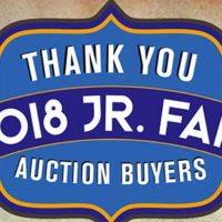 2018 Jr. Fair Auction Section