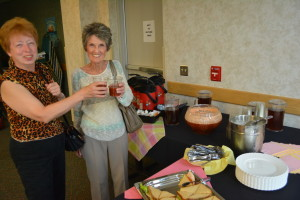 Nurses: Pictured enjoying the recent nurses reception at Coshocton Hospital are Joann Clements and Carole Henderson. Beacon photo by Josie Sellers