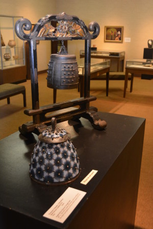 Kaname Takada's clay pot with lid that is based on the Johnson-Humrickhouse Museum's Chinese Temple Bell is just one of 30 new works of art displayed in the museum's Grafted to the Past exhibit.  Josie Sellers | Beacon