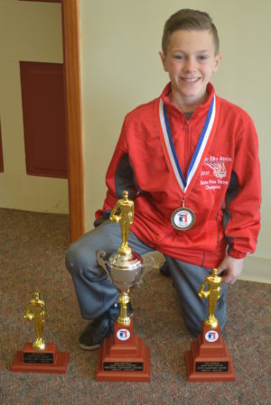 Colton Conkle is the Elks Great Lakes Regional Hoop Shoot Champion and a national finalist. His journey in the competition started in December when he won the local contest hosted by the Coshocton Elks Lodge #376.  Josie Sellers | Beacon