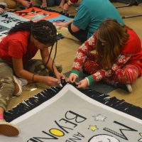 Coshocton fifth graders make blankets for the homeless