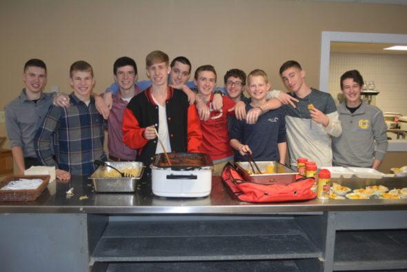 The Coshocton Christian School Boys Basketball team hosted a spaghetti dinner fundraiser on Feb. 18. Josie Sellers | Beacon
