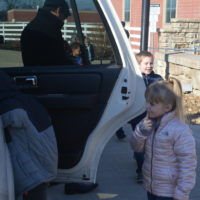 Coshocton Elementary students ride in limo