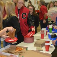 Key Club members enjoy treat from Kiwanis Club