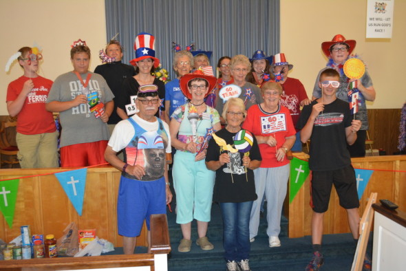 Pictured are Bible School adult and youth volunteers at Conesville United Methodist Church.