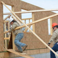 Career center students get hands-on experience at Habitat house
