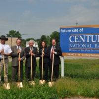 Century National Bank breaks ground