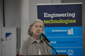 Jones Metal Products Company Chairperson Marion Mulligan Sutton was one of the guest speakers at the Central Ohio Technical College Engineering Technology Programs ETAC / ABET Accreditation event in Newark on Friday morning, Sept. 23.  Mark Fortune | Beacon