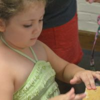 Children enjoy library summer programming
