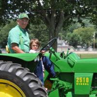 Family enjoys tractor show