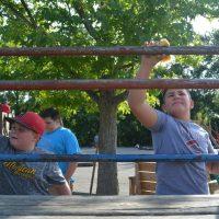 Volunteers help spruce up Keene's playground