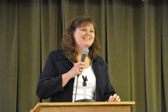 Joy Snyder of the UMC Three Rivers District was the featured speaker at the Wednesday, March 1, Lenten Luncheon. The lunches are held for six weeks beginning at 11:45 a.m. each Wednesday and are held at The Presbyterian Church in Coshocton. Mark Fortune   Beacon