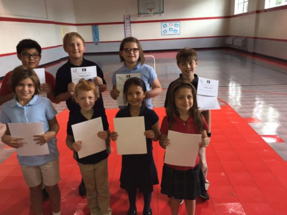 Pictured from left to right, front row: Drew Duren, Brylee Unger, Lamvi Harmon and Kelly Corbett; back row: Thomas Vu, Collin Ladrach, Mattalyn Kiser and Aidan Stevens-Woolery.