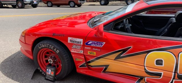 Lightning McQueen makes appearance at car show
