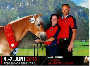 Mike and Jackie Woodward of Conesville attended the 2015 Haflinger World Show in Austria where their horse, Sinna, received Reserve World Champion.