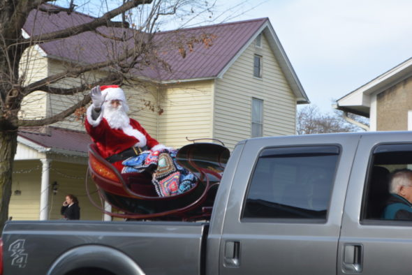 Santa Claus will make his annual appearance at the end of the West Lafayette Christmas parade this Saturday. The parade will begin at 1 p.m.