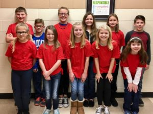 Eleven Ridgewood Middle School students recently had the opportunity to attend the Columbus Children's Choir Choral Festival. Pictured from left in front are: Claire Mayse, Emily Fechuch, Haylee Kinsey, Kya Masloski, Zoey Alan and in back are Logan Fechuch, Zander Brenneman, Kelley Masloski, Allison Edie, Katelyn Scott, and Dakota Kealiher. Contributed | Beacon