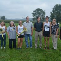 Cross country seniors honored