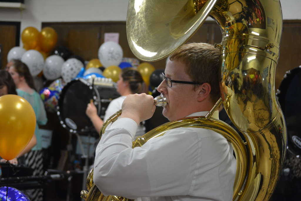 RVHS marching band balloon day31