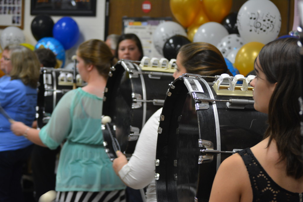 RVHS marching band balloon day37