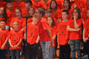 """Brynn Stillion was one of several students who had speaking parts in the fifth and sixth graders production of """"December Nights, December Lights."""" The students presented the show for the entire school on Dec. 20. Josie Sellers 