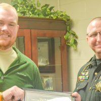 Lt. Udischas receives Patriot Award