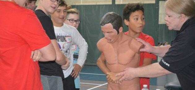 Seventh grade students learn life skills at youth health day