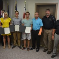 Commissioners honor young people involved in life-saving rescue