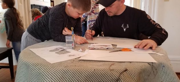 Dads and kids awarded art lessons