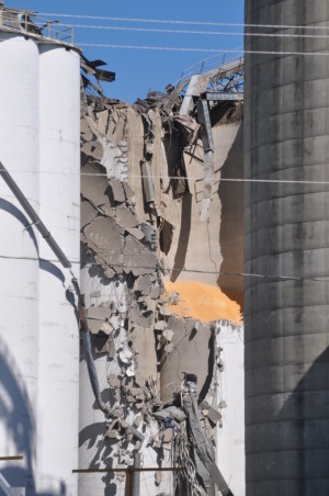 Explosion: An explosion in August 2014 shut Coshocton Grain Co. down for a little over a year while it worked to rebuild. Beacon file photo