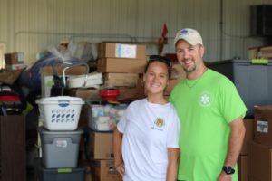 Robin and Travis Williams collected enough donations for the flood victims in West Virginia to fill a semi. Cortney Ringwalt   Beacon