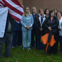 Hospital raises Donate Life flag