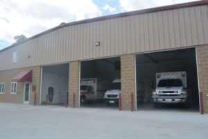 The new Warsaw EMS building was completed last April and has enough room for both paramedics and village council meetings. The new bay area has enough room to fit three ambulances comfortably.