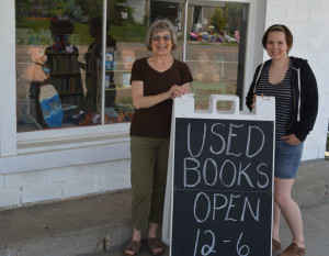 Community outreach: Rae Anderson and her daughter Jenny Anderson manned Angels, Cups, & Pages on May 28, when the used bookstore opened for the season. The store is just one of many community outreach programs run by New Castle Ministries. Beacon photo by Josie Sellers