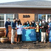 Ribbon cutting held at Dr. Reed's office