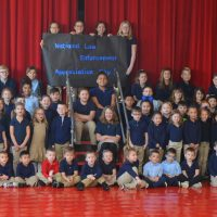 Sacred Heart students say thank you to law enforcement officials