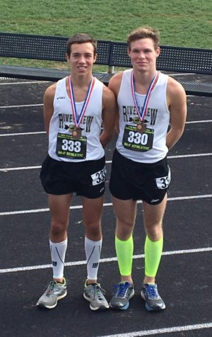 Sawyer Neal and Michael Hardesty advanced out of the regional cross country meet to represent the Black Bears at the state meet on Nov. 5 at National Trail Raceway in Hebron. Contributed   Beacon