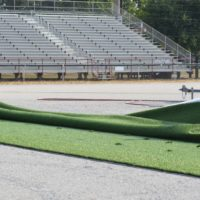 Artificial turf rolled out at Stewart Field