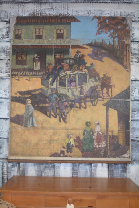 This 3' by 4' painting was recently uncovered at the Unusual Junction in West Lafayette. Not much is known about the painting except that it was done in 1934 by Coshocton artist Tom Gartside. Beth Scott | Beacon