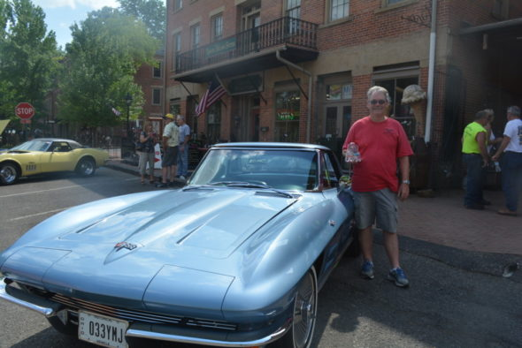 Ken Jelley of Brookfield received best of show in the Roscoe Village Corvette show on Sunday, June 11.