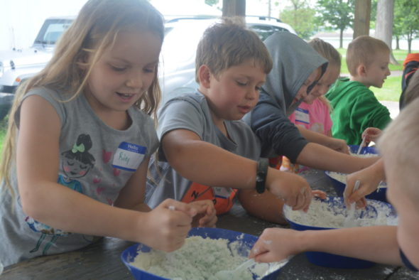 Twenty-four kids participated in the 4-H Science Camp at the Rotary Pavilion on Tuesday, June 6 and Wednesday, June 7. After lunch, the kids were able to make their own slime. Beth Scott | Beacon