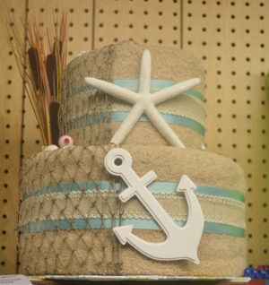 Leslie McCloy received Best of Show for her beach-themed gift wrapping at the Coshocton County Fair.