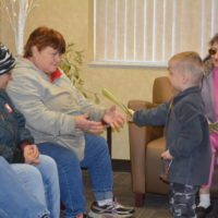 Head Start children perform for senior citizens