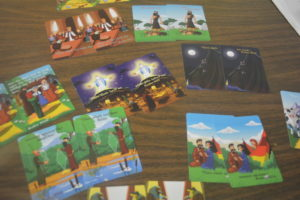 Pastor Kris Giles created a matching game for kids that teaches them about the Ten Commandments.