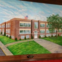 Local artist paints mural for Coshocton High School