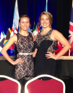 Pictured together are state officers Bella Pendola and Jade Poorman.