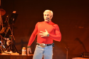 Concert: Aaron Tippin performed in front of a packed grandstand Oct. 4 at the Coshocton County Fair. Beacon photo by Josie Sellers