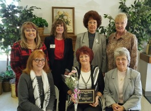 BPW event: Pictured from left in front are - Mary Mason, Coshocton BPW ID Co-Chair; 2016 BPW Region 3 ID Winner Ellen Mc Kee; and Marilyn Lauvray, Region 3 ID Chair; and in back are - Region 3 President Rhonda Stemmer; Judges Betty Duche', Joyce Duling Sees and Cheryl Clark Kuhn. Photo contributed to The Beacon